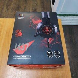 Компьютерные гарнитуры - Игровые наушники Bloody J437 (Новые), 0
