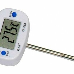 Термометры и таймеры - Термометр цифровой с коротким щупом и поворотным дисплеем TA-288, 0