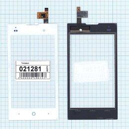 Дисплеи и тачскрины - Сенсорное стекло (тачскрин) для ZTE V815W белое, 0