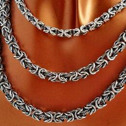 Цепи - Цепи серебро Византия, с чернением, 0