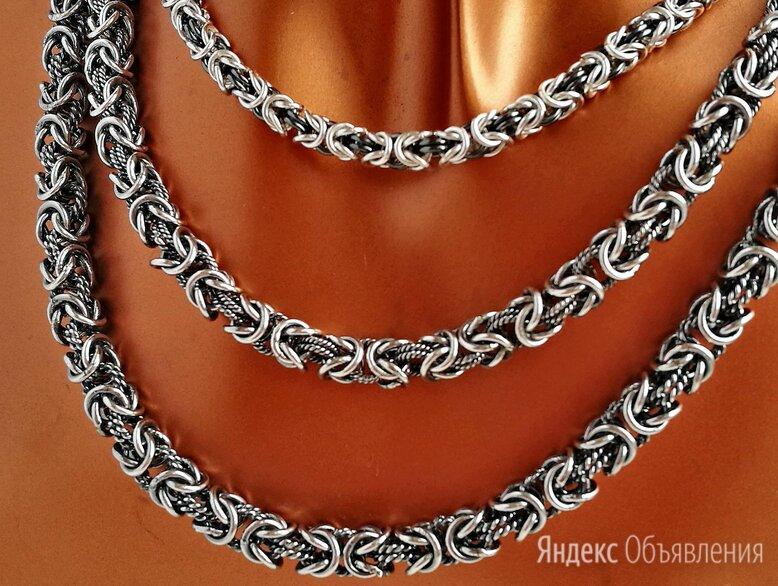 Цепи серебро Византия, с чернением по цене 8250₽ - Цепи, фото 0
