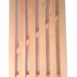 Полки, стойки, этажерки - Решетка на деревянная  для ванн 350х700 мм., 0