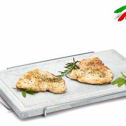 Аксессуары для грилей и мангалов - Сковорода гриль Bisetti 99004 мясо овощи рыбы креветки шашлык сосиски на камне, 0
