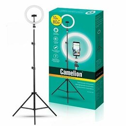 Осветительное оборудование - Кольцевая лампа Camelion KD-810F стойка-штатив в…, 0