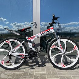 Велосипеды - Складной горный велосипед. Литые диски, 0