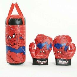 Тренировочные снаряды - Детский боксерский мешок груша человек паук, 0
