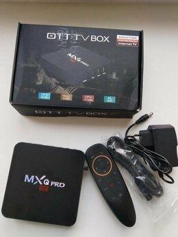ТВ-приставки и медиаплееры - Андроид смарт приставка МХQpro с голосовым пультом, 0