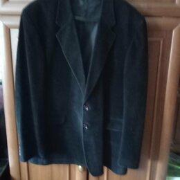 Пиджаки - Итальянский мужской костюм, (пиджак), замшевый, чёрный. , 0