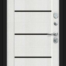 Входные двери - Дверь входная Борн 117.М22 Лунный камень/Bianco Veralinga, 0