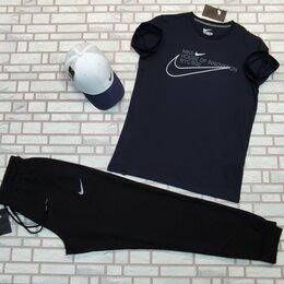Спортивные костюмы - Комплект футболка и штаны Nike синий мужской, 0