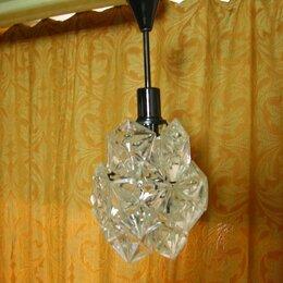 Люстры и потолочные светильники - Стеклянная люстра ссср, 0