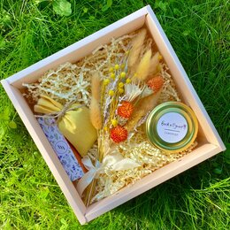 Подарочные наборы - Подарочный набор: свеча, букет из сухоцветов, 0