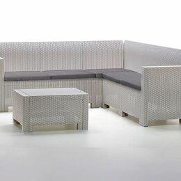 Комплекты садовой мебели - Комплект мебели NEBRASKA CORNER Set (углов. диван, столик), белый, 0