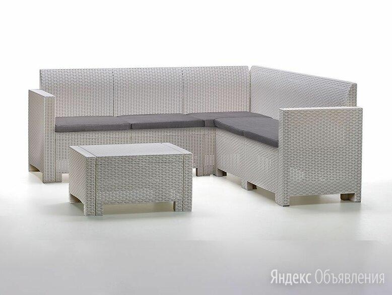 Комплект мебели NEBRASKA CORNER Set (углов. диван, столик), белый по цене 38000₽ - Комплекты садовой мебели, фото 0