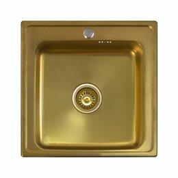 Кухонные мойки - Кухонная мойка Seaman Eco Wien SWT-5050 Antique gold, 0