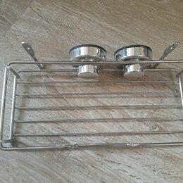 Мыльницы, стаканы и дозаторы - Мыльница металлическая с полочкой, 0