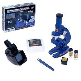 Детские микроскопы и телескопы - Микроскоп детский 'Юный исследователь' 2 в 1 , с подсветкой, сменным дисплеем..., 0
