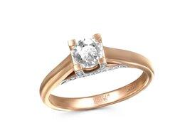 Кольца и перстни - Кольцо с 37 бриллиантами из красного золота, 0