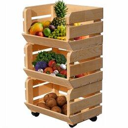 Стеллажи и этажерки - Деревянные стеллажи для овощей, 0