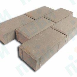 Тротуарная плитка, бордюр - Брусчатка 200х100х60 тротуарная плитка коричневая ГОСТ, 0
