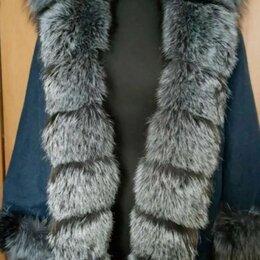 Куртки - Утепленная джинсовка с чернобуркой новая 50/54, 0