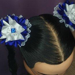 Аксессуары для волос - Школьные банты из атласных лент канзаши резиночки, 0