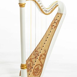 Щипковые инструменты - Resonance Harps Iris Арфа 21 струнная (A4-G1) цвет белый глянцевый, 0