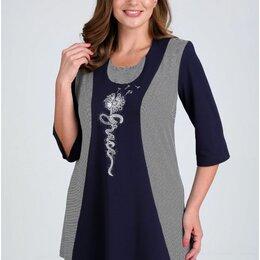 Толстовки - Блуза 62408 Таир-Гранд т.синяя Модель: 62408, 0