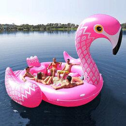 Аксессуары для плавания - Огромный надувной фламинго на 6 человек, 0