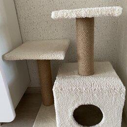 Лежаки, домики, спальные места - Кошачий домик с когтеточкой , 0