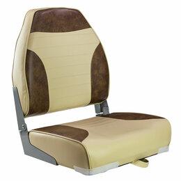 Походная мебель - Кресло мягкое складное Classic, обивка винил, цвет песочный/коричневый, Marin..., 0