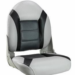 Плетеная мебель - Кресло мягкое складное, обивка винил, цвет серый/черный/угольный, Marine Rocket, 0