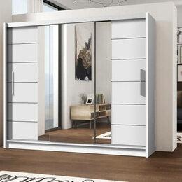 Шкафы, стенки, гарнитуры - Шкаф купе с зеркалом ФЛОРЕНС 3 МДФ, 0