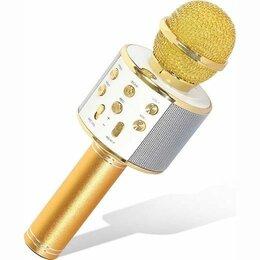 Микрофоны и усилители голоса - Караоке микрофон с колонкой WS-858, 0