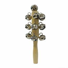 Смычковые инструменты - Brahner DP-113 бубенцы хромированные на деревянной ручке, 17 см., 0
