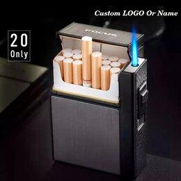 Пепельницы и зажигалки - Портсигар  для сигарет с зажигалкой focus, 0