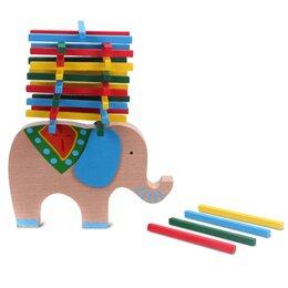 Настольные игры - Настольная игра на равновесие «Слон и башня», 0