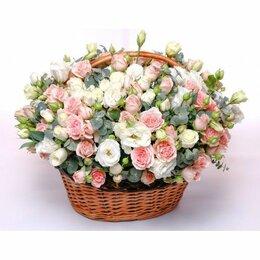 Цветы, букеты, композиции - Композиция в корзине «Страна любви» - L (40см), 0