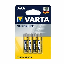 Батарейки - Батарейка ААА LR03 Zinc Carbon Varta Superlife, 0
