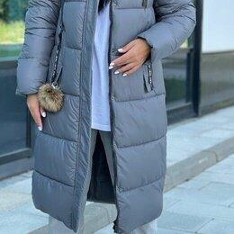 Куртки - Женская длинная зимняя куртка р-ры 48-60, 0