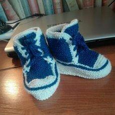 Носки - Вязанные детские носочки (в наличии и под заказ), 0