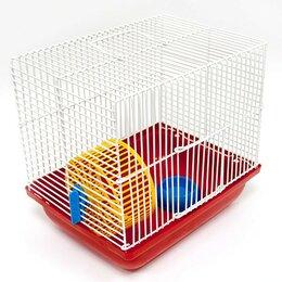 Клетки и домики  - Клетка для хомяков (колесо+миска) 22,5*16,5*21,0 Зооник, арт.18317, 0
