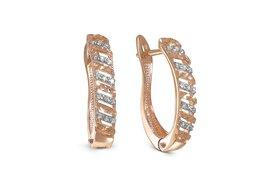 Серьги - Серьги с 30 бриллиантами из красного золота, 0