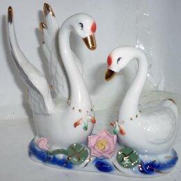 Скрапбукинг - Сувенир Пара лебедей розовый цветок 4375 13см, 0