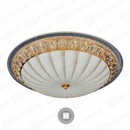 Люстры и потолочные светильники - Светильник Estares накладной светодиодный CASABLANCA GOLD 25W (КОД:735093), 0