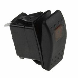 Электроустановочные изделия - Переключатель двухпозиционный ON-ON 12В/20А 4Р с подсветкой, 0