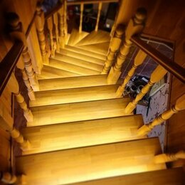 Интерьерная подсветка - Автоматическая подсветка деревянной лестницы, 0