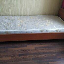 Кровати - Кровать односпальная с матрасом 195х80 С матрасом Аскона, 0