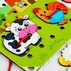 Деревянная игрушка-шнуровка «Ферма» по цене 297₽ - Развивающие игрушки, фото 3