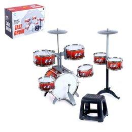 Ударные установки и инструменты - Барабанная установка «Настоящий барабанщик», со стульчиком, 0